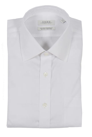 ENRO NON-IRON PINPOINT OXFORD TAILORED FIT DRESS SHIRT
