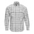 F/X FUSION WASHED COTTON CORDUROY WHITE PLAID SHIRT