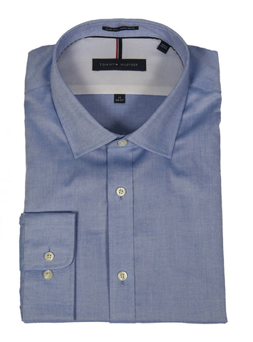 TOMMY HILFIGER SLIM FIT NON IRON PINPOINT DRESS SHIRT (more colors)