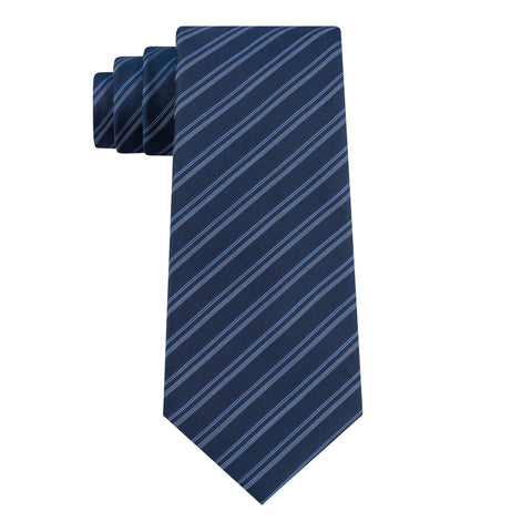 KENNETH COLE REACTION NAVY STRIPE TIE