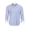 TAILORBYRD NAVY MINI PLAID SHIRT
