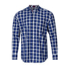 TAILORBYRD ROYAL BLUE PLAID SHIRT