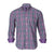 TAILORBYRD GREY/PURPLE CHECK SHIRT