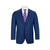 MAX DAVOLI ITALIAN BLUE PEAK LAPEL MODERN FIT SUIT