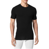 TOMMY JOHN SECOND SKIN CREW NECK STAY-TUCKED BLACK UNDERSHIRT