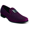 STACY ADAMS BURGUNDY STUDDED FORMAL SLIPPER