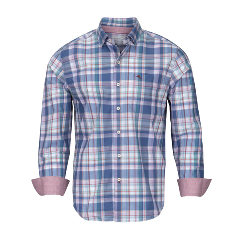 TOMMY BAHAMA NEWPORT COAST COTTON PLAID SHIRT