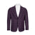 SUITOR PLUM WINDOWPANE SPORTCOAT