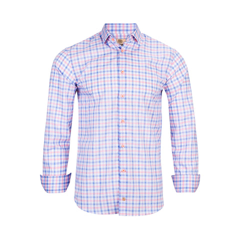 TREND MODERN FIT PINK MULTI CHECK SHIRT