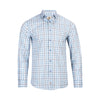 TREND MODERN FIT AQUA CHECK SHIRT