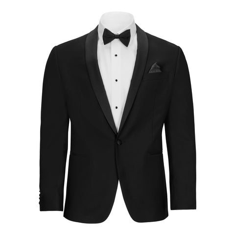 TALLIA ORANGE SHAWL COLLAR TUXEDO JACKET