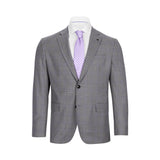 TED BAKER GREY LAVENDER DECO WINDOWPANE SUIT