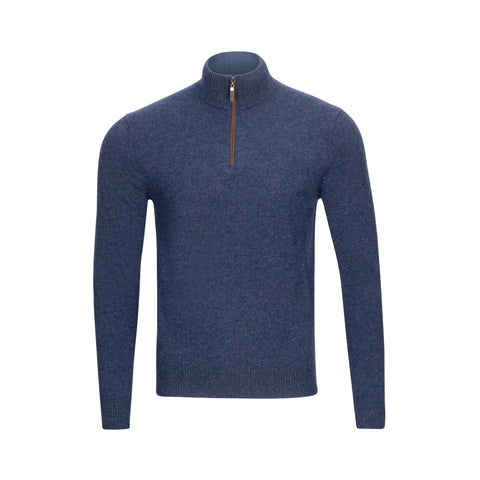 QUINN CASHMERE ¼ ZIP SWEATER