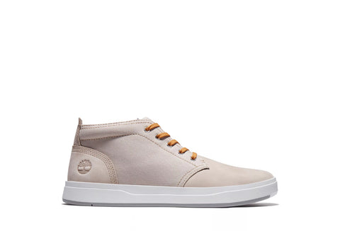 TIMBERLAND DAVIS SQUARE LEATHER CANVAS SAND CHUKKA SNEAKER
