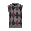 LEONARDO GAVINO VNECK ARGYLE VEST (more colors)