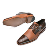 MEZLAN PHOENIX CAP TOE MONK STRAP (more colors)
