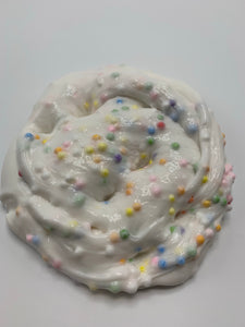 Confetti Cupcake- A vanilla cupcake scented slime with multicolored foam beads