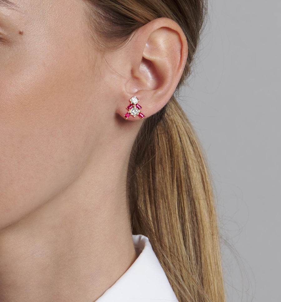 Gunja Ruby Stud Earrings