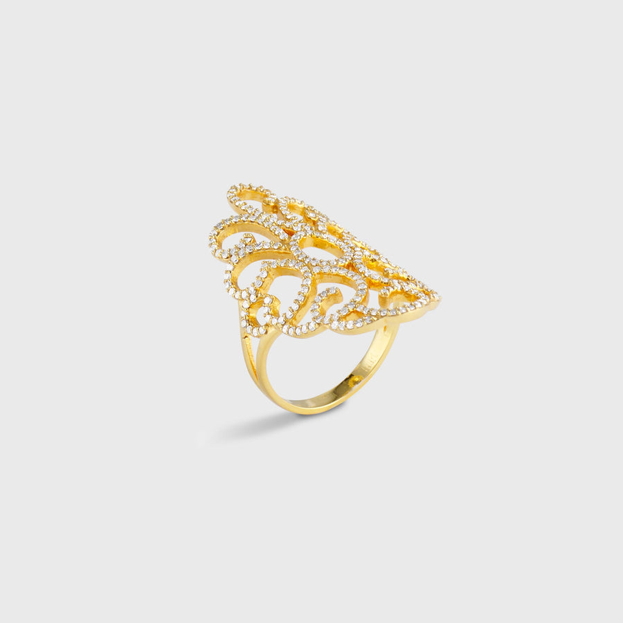 Arabesque Diamond Ring