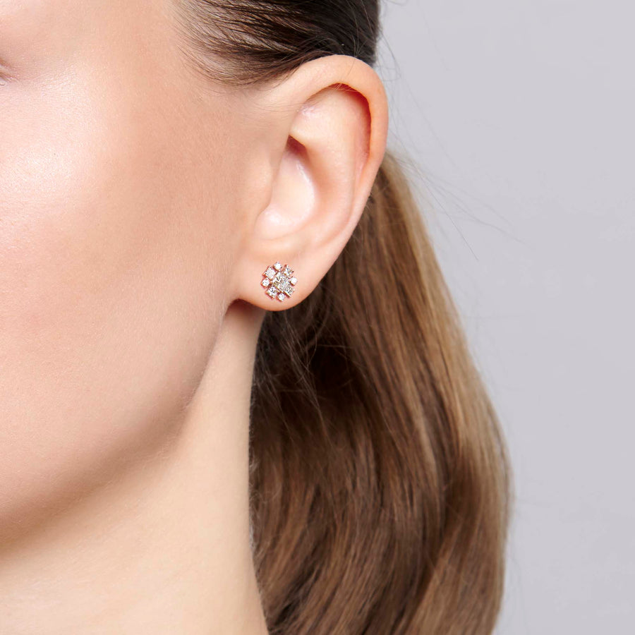 Varaka Diamond Studs Earrings