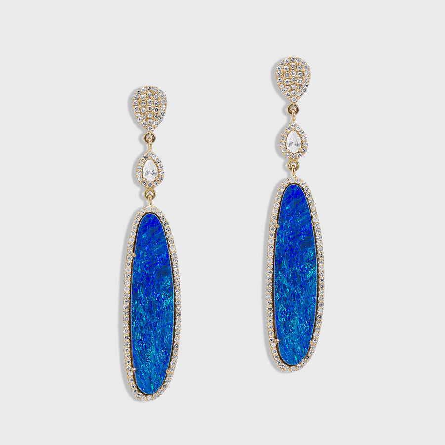 Gargi Opal and Diamond Earrings