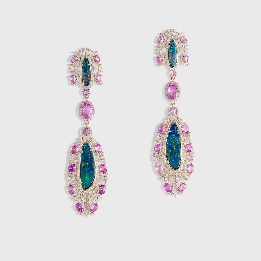 Kanta Opal and Tourmaline Earrings