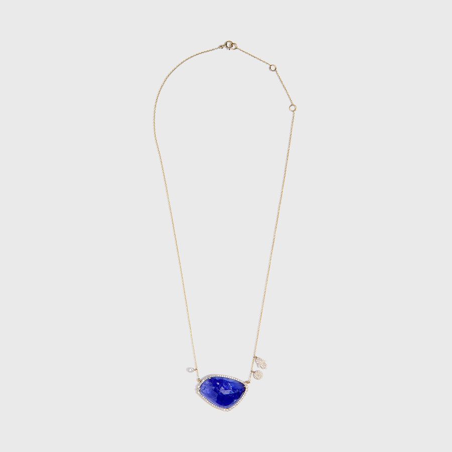 Griva Tanzanite and Diamond Necklace