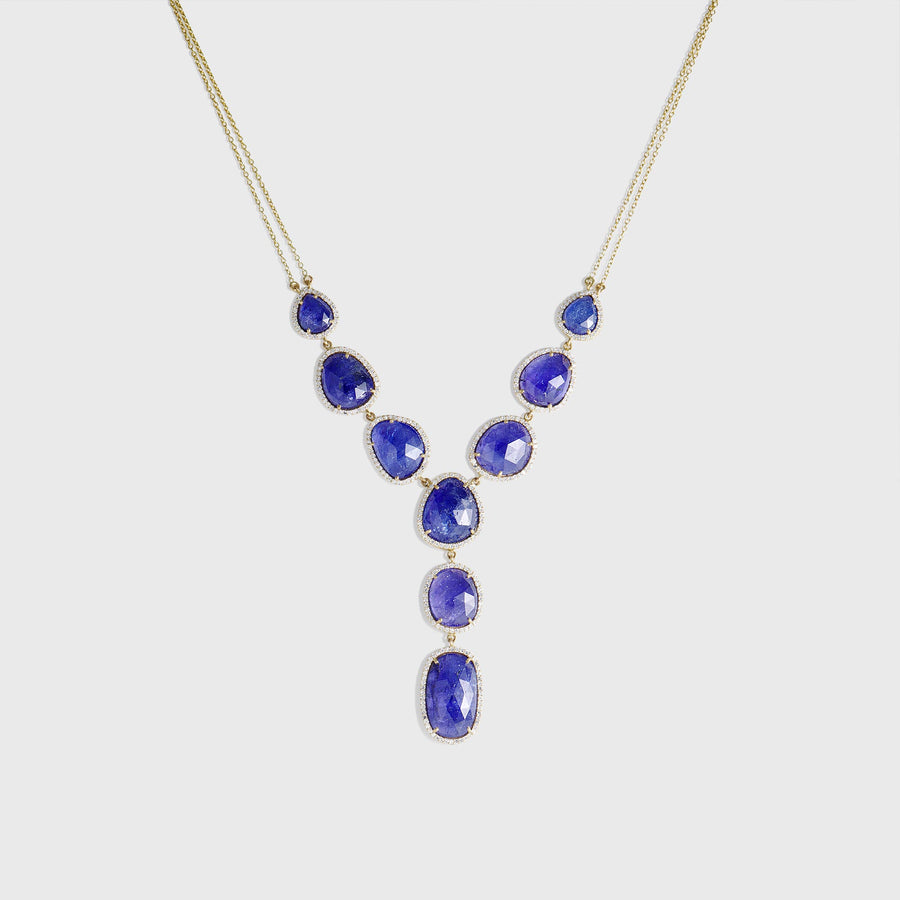 Durga Multi Drop Tanzanite Necklace