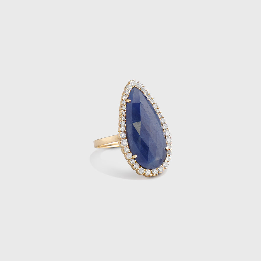 Hemali Sapphire and Diamond Ring