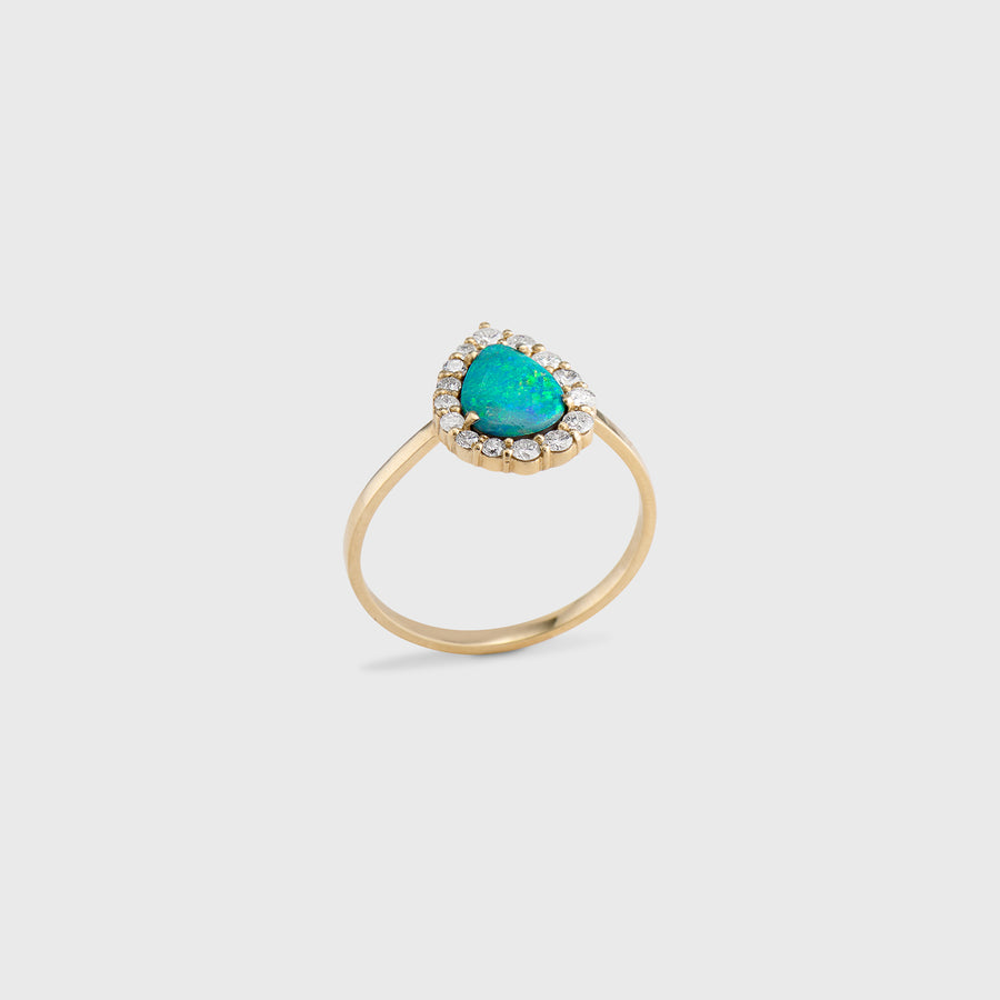 Eswari Opal and Diamond Ring