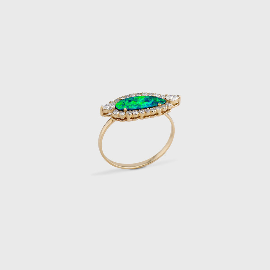 Chetana Opal and Diamond Ring