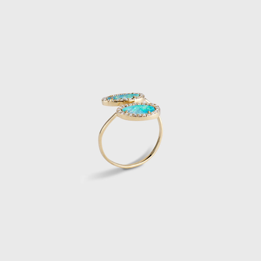 Akshay Double Opal Ring
