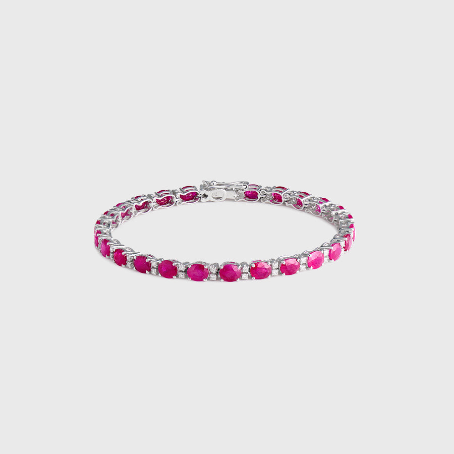 Zoya Ruby and Diamond Tennis Bracelet