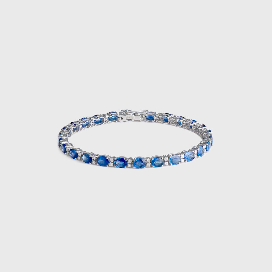 Zoya Sapphire and Diamond Tennis Bracelet