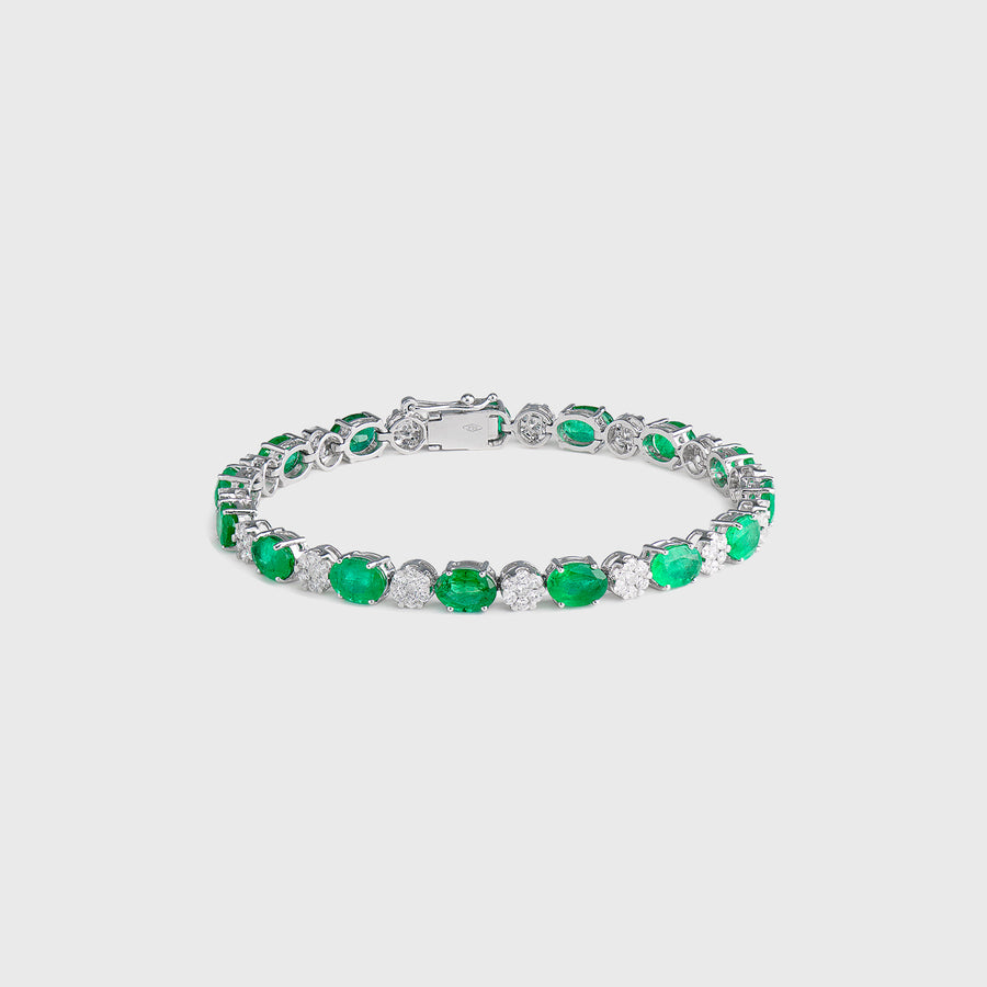 Ryka Emerald and Diamond Bracelet