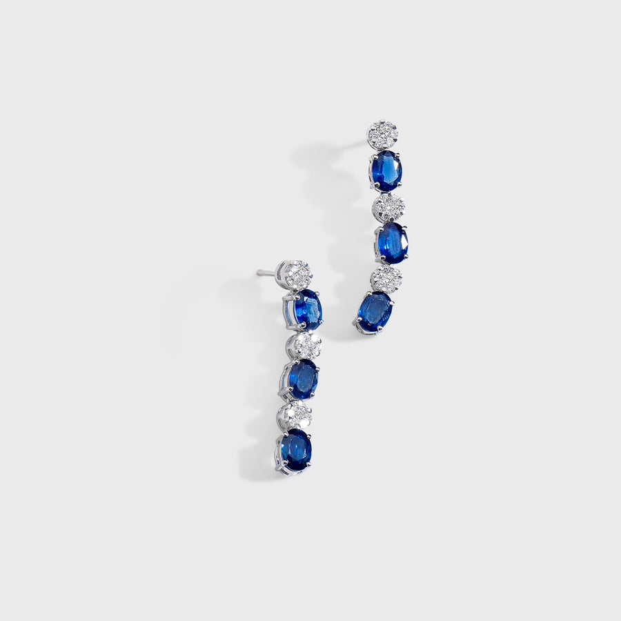 Ryka Sapphire and Diamond Earrings