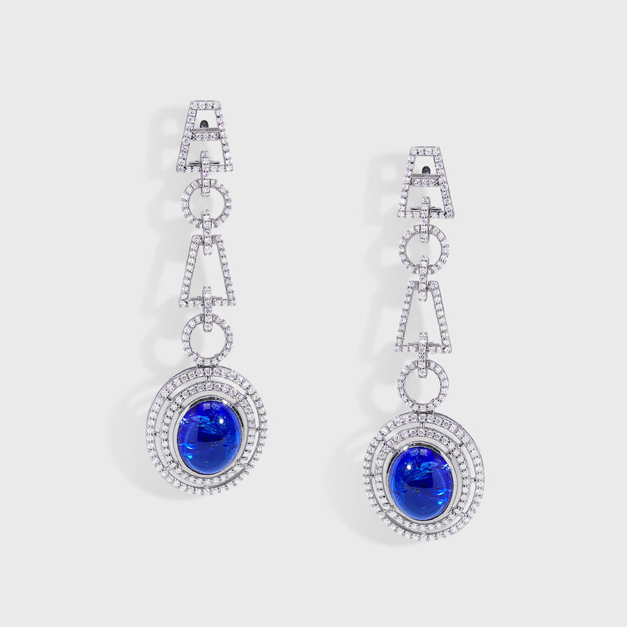 Yamini Tanzanite and Diamond Earrings