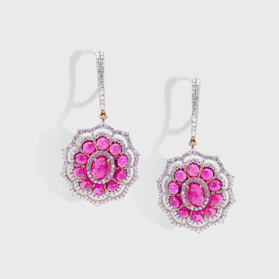 Puspa Tourmaline and Diamond Earrings