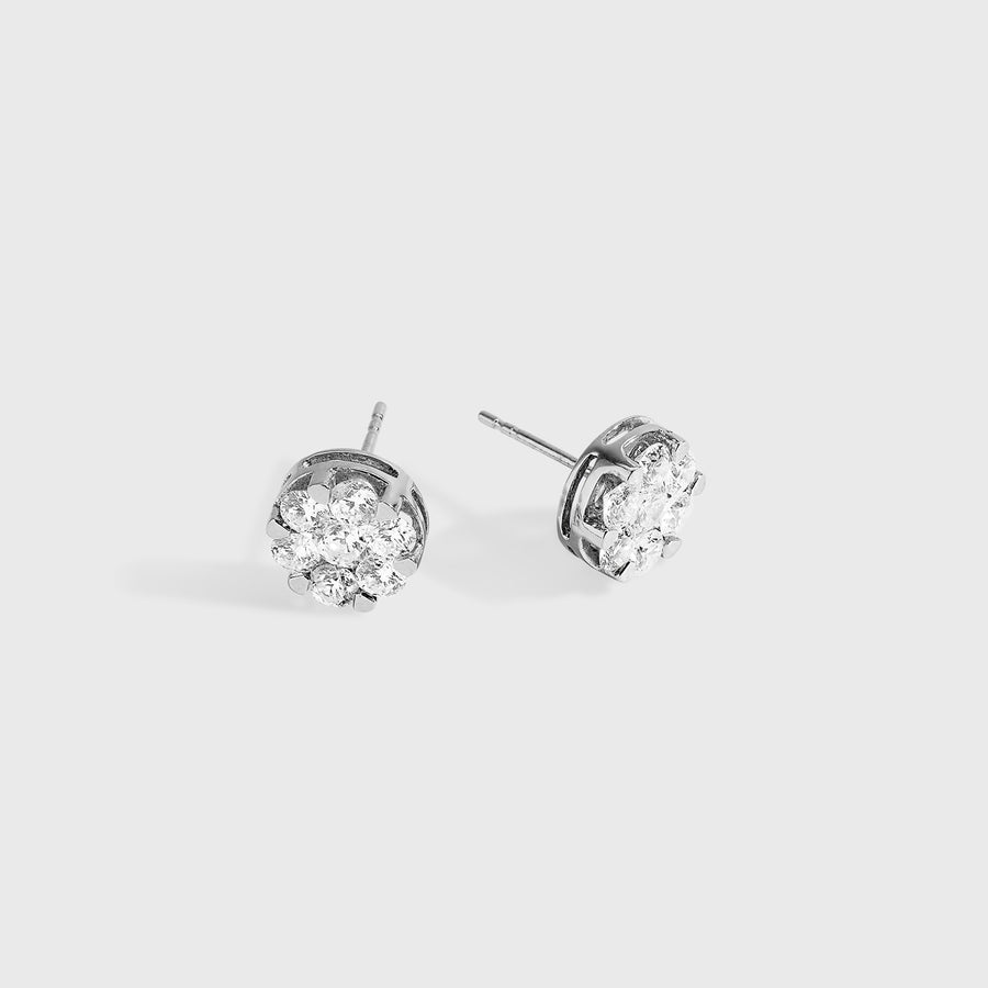 Ryka Large Diamond Stud Earrings