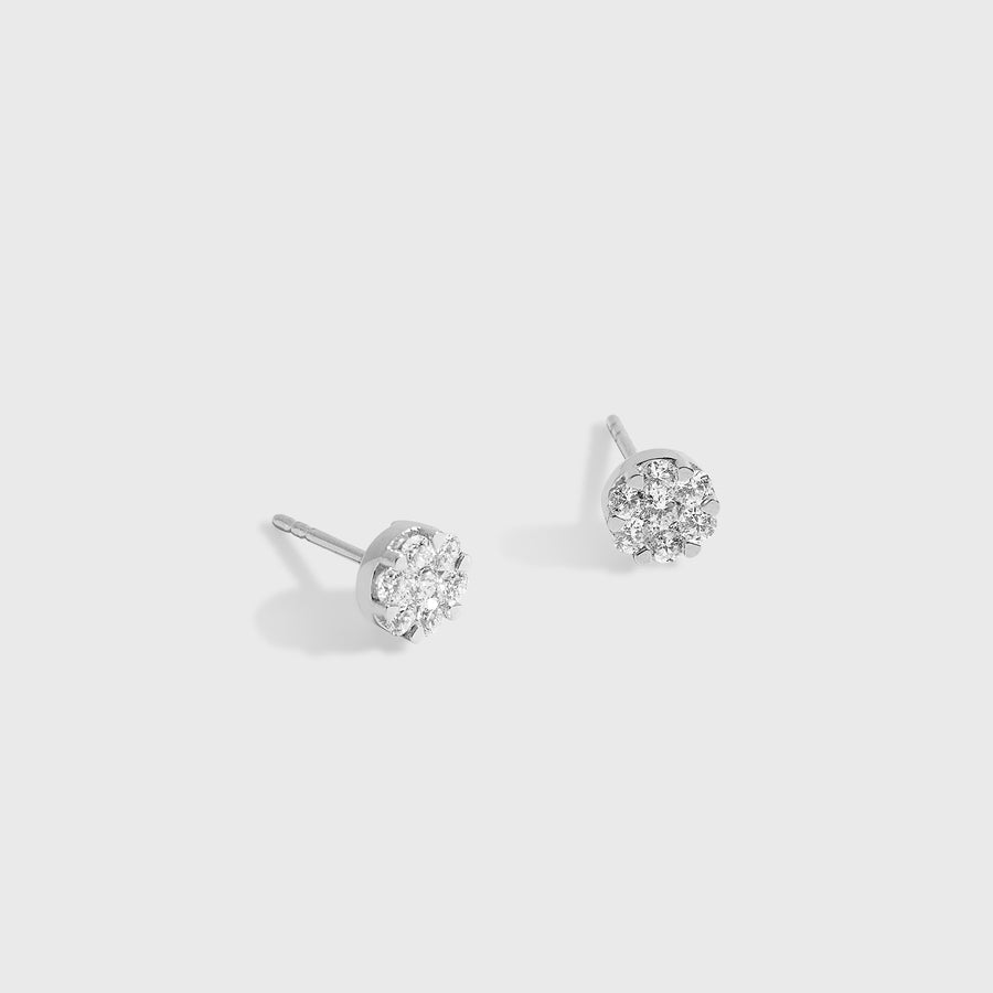 Ryka Small Diamond Studs Earrings