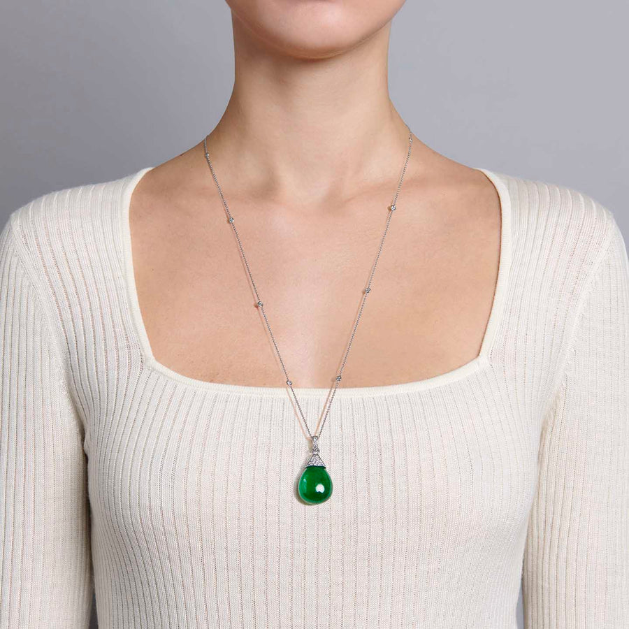 Anda Emerald and Diamond Necklace