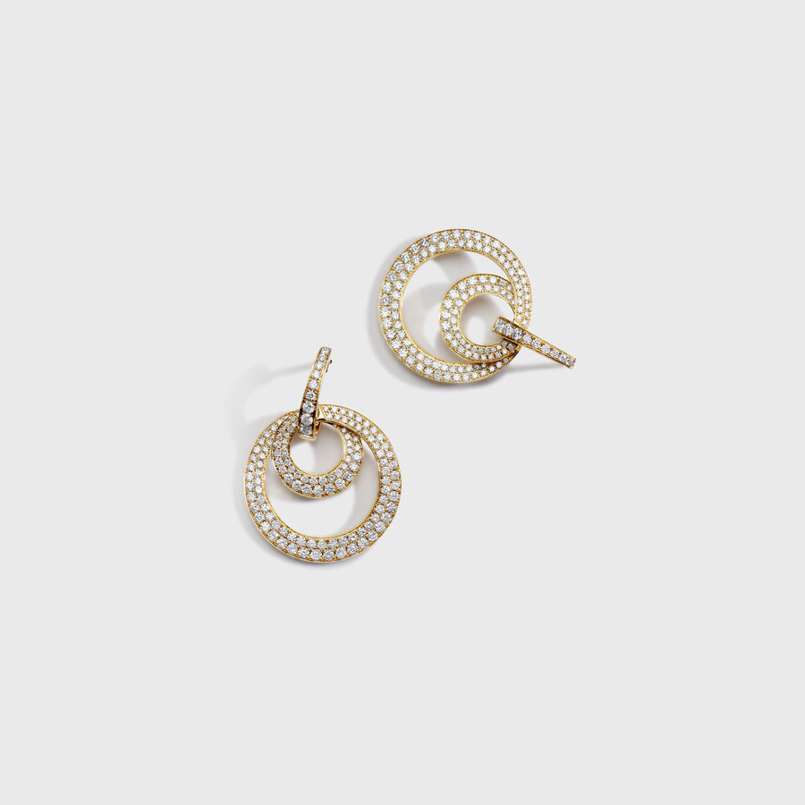 Shreya Double Diamond Hoops