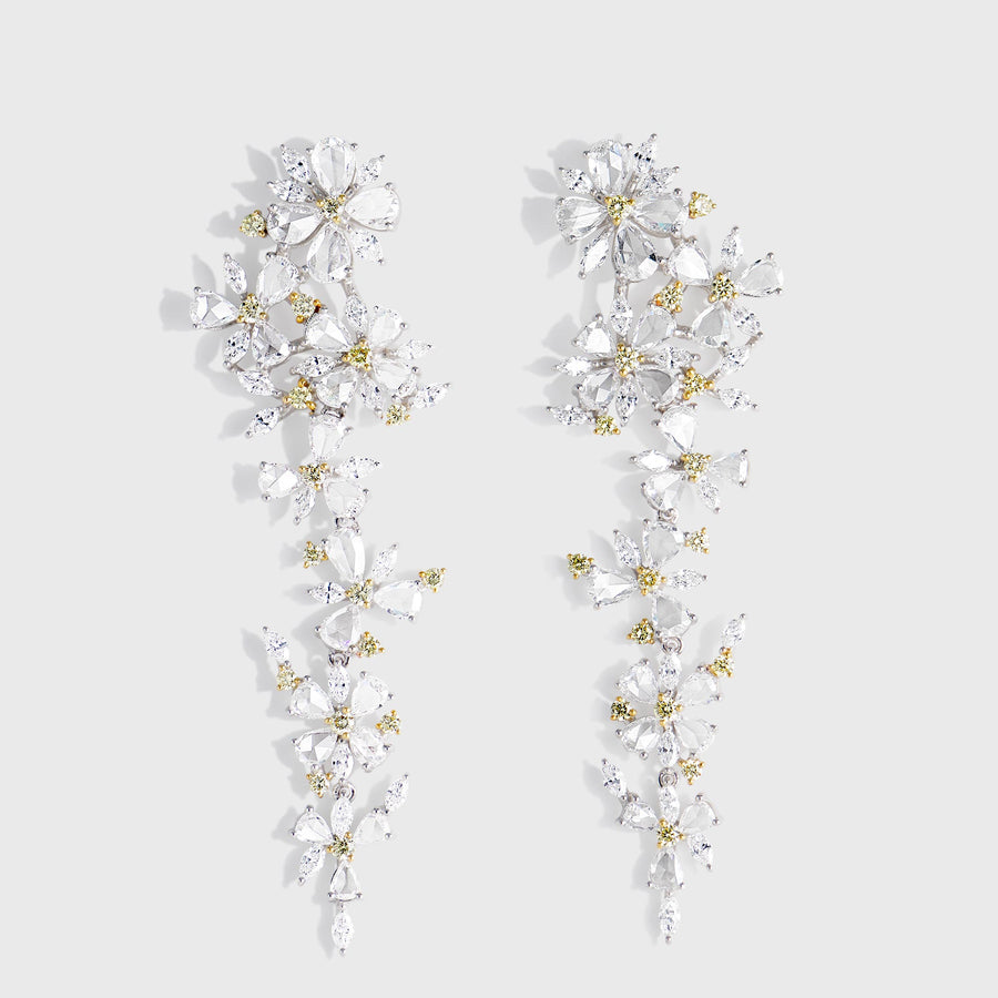 Phool Diamond Earrings