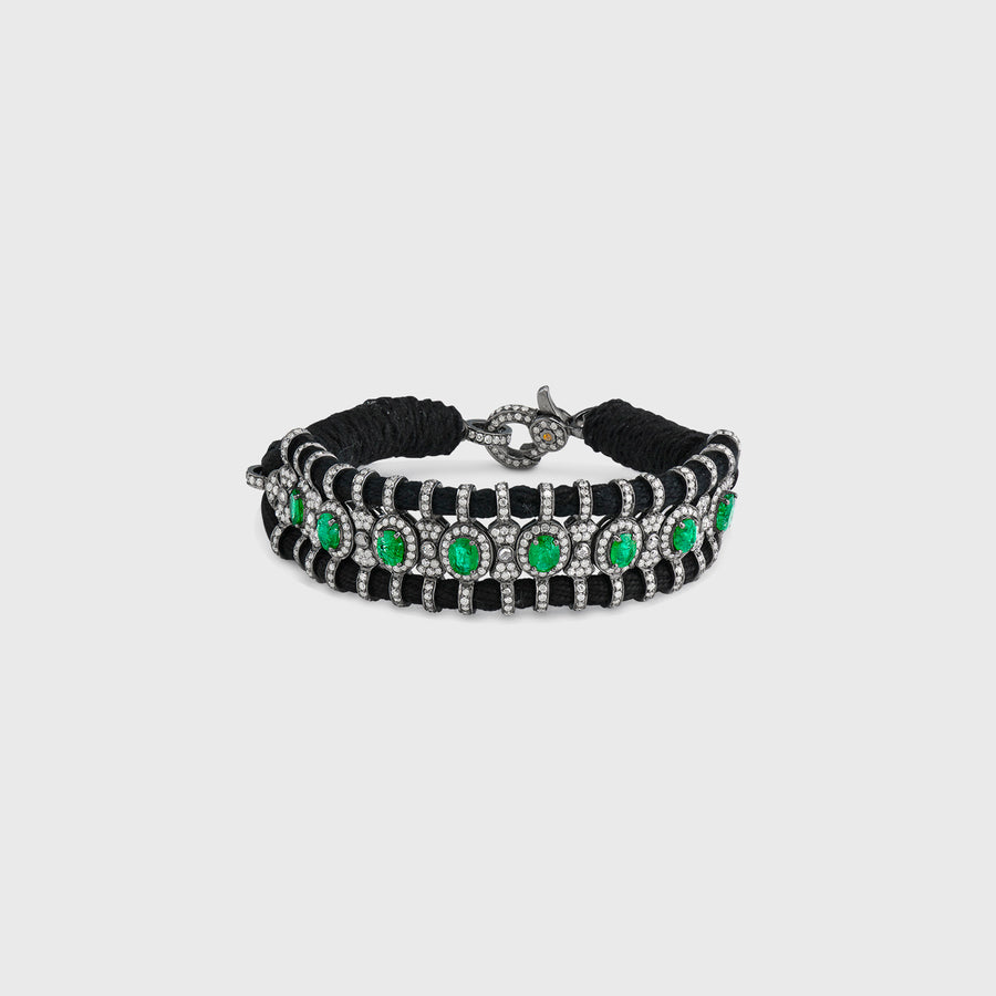 Bani Emerald and Diamond Bracelet