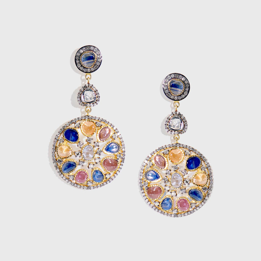 Udisha Multicolor Sapphire Earrings