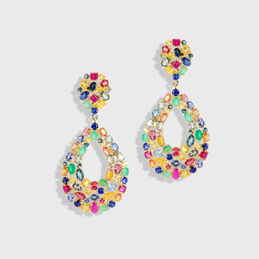Indradhanusa Multicolor Sapphire Earrings