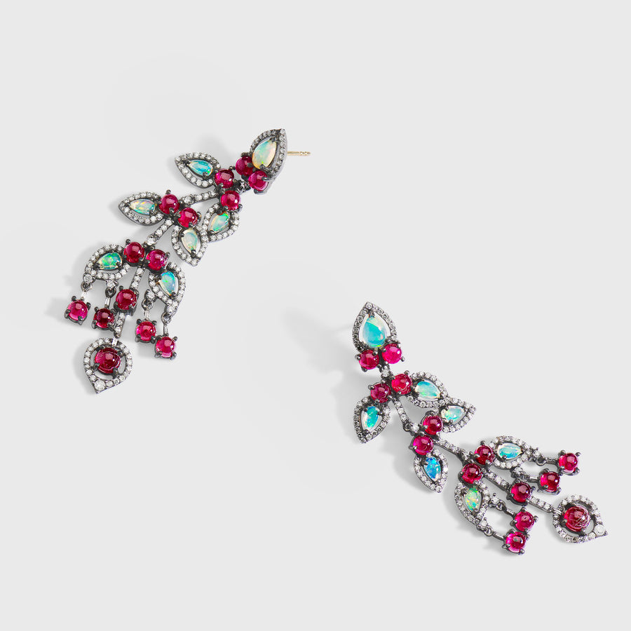 Bhakti Ruby and Opal Earrings