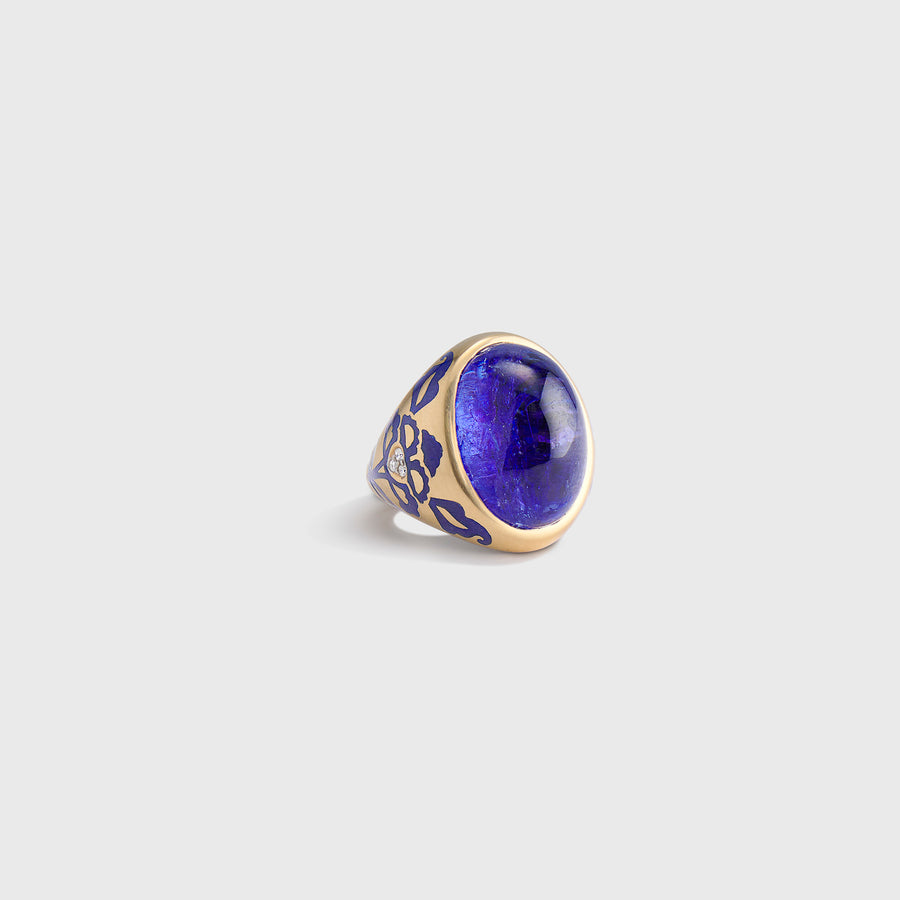 Sanadara Enamelled Tanzanite Ring