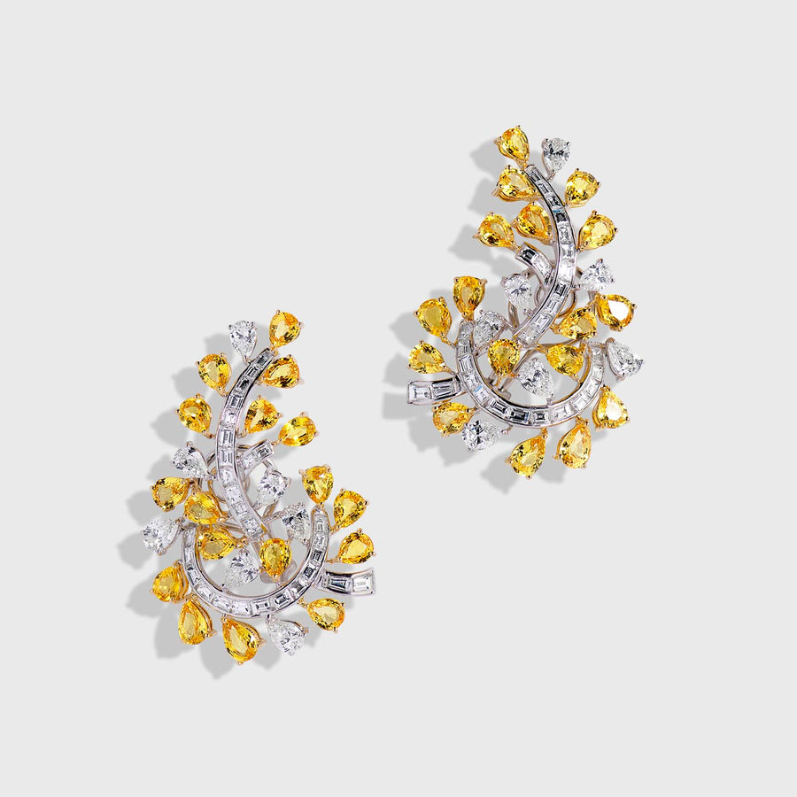 Eniya Sapphires and Diamonds Earrings