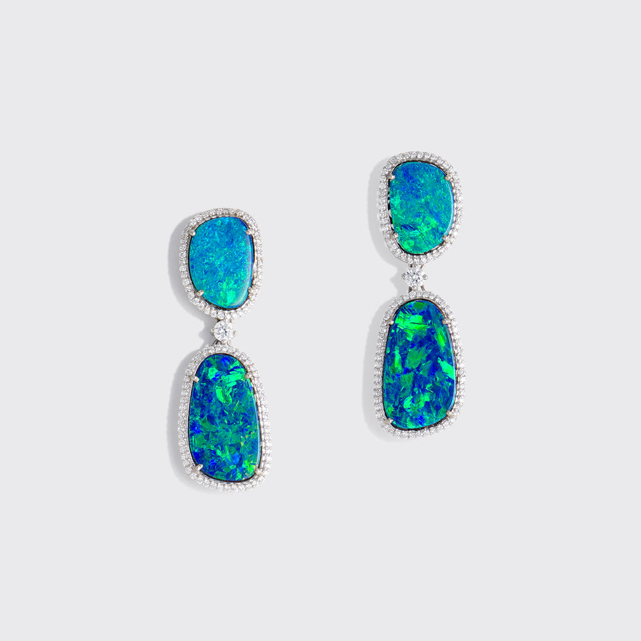 Abhilash Opal Earrings